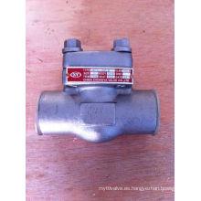Válvula de retención de acero inoxidable forjado Class150 F316 Sw