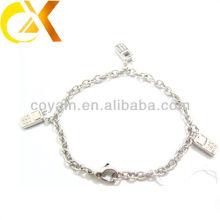 Pulsera de cable de joyería de acero inoxidable con colgante