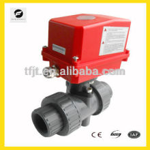 AC220V electric 2 way UPVC ball valve for Water equipment,auto-control watersystem,industrial mini-auto equipment