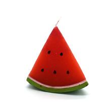 Vela decorativa da arte da forma da melancia do Natal