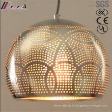 Lumière pendante creuse de mode et en métal avec la salle à manger