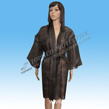 New Design PP Disposable Nonwoven Sexy SPA Kimono/Nonwoven Bedgown