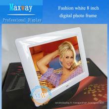 Cadre d'album photo numérique Fashion blanc