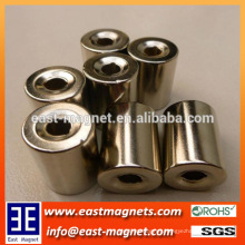 speical shape neodymium magnet for sale/ndfeb special cylinder with hold magnet for sale