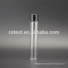 high quality glass test tube aluminum cap