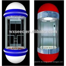 Weit Sightseeing View Passanger Aufzug / Lift mit Glas