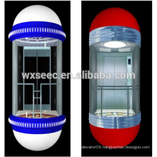 Wide Sightseeing View Passanger Elevator/Lift wiht Glass