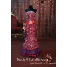 EN STOCK Off-el hombro vestido de fiesta de las mujeres de tobillo de longitud vestido de fiesta SE94