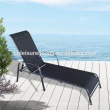 Chaise longue de plage en aluminium