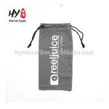 Wholesale cheap eco friendly drawstring microfiber glasses bag