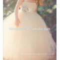 Шампанское полный-длина бальное платье цветочница платье для вечеринку и свадьба