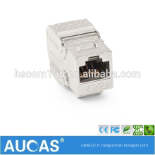 Cat6 rj45 UTP Module à clé de 180 degrés de clé / plug modulaire femelle sans système systimax