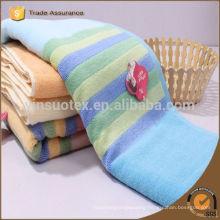 35*75cm Factory promotional 21s/2 100 cotton strips patterns face towel