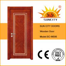 Puertas de oscilación de oficina de pintura de madera