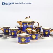 Taza de café y platillo de China de hueso, conjunto de café de té de China de hueso
