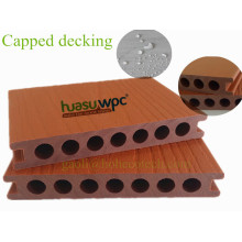 145 * 21mm Decking Capped WPC Extrudieren Verbundholz