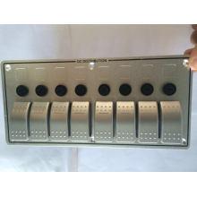 7 банда 12В 24В с автоматическими выключателями Алюминиевый LED перекидной переключатель панель