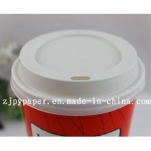 Cubierta de la tapa de la taza de papel (tapa del recorrido del estireno del blanco / negro) -Pcl-11
