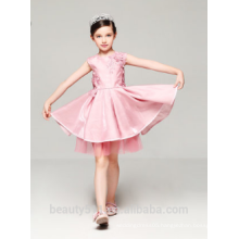 short front & long back flower girl dress design scoop neckline sleeveless sexies girls in hot night dress ED780