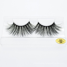 Premium Private Label Eye Lashes Wholesale 3D 5D 25mm Mink Eyelashes with Custom Packaging