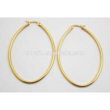 18K золото обшивки 316L нержавеющей стали овальные небольшие дешевые серьги петли