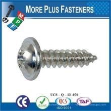 Fabriqué en Taiwan DIN 968 Phillips Pan Head avec vis de taraudage
