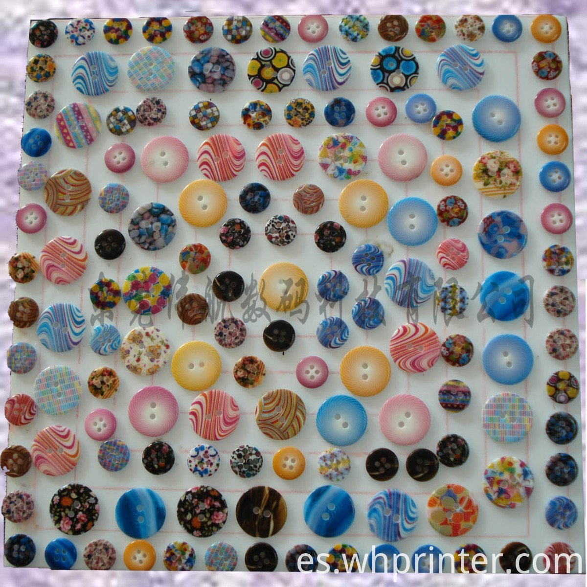 digital printing button