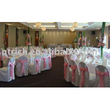 100%Polyester chair cover,banquet/hotel chair cover,satin sash