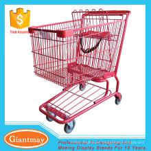 Carrinho de compras com rodas pesadas