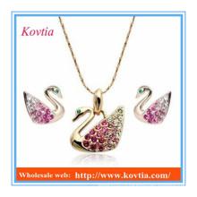Дешевое оптовое комплект ювелирных изделий красивейшего ожерелья лебедя и серьги
