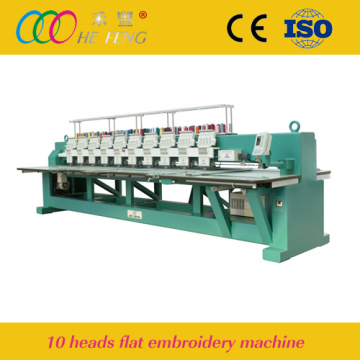 10 Heads Quality High Speed Flat Embroidery Machine
