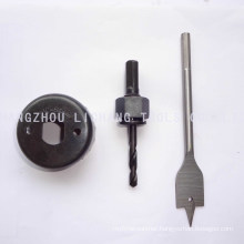Lock Installation Kit with One Flat Bit, One Hole Saw and One Center Drill