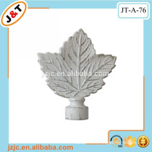 painting decorative shower curtain rod leaf finial