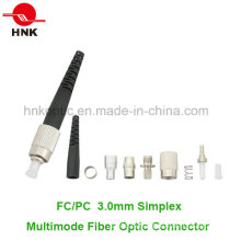 FC PC 3.0mm Simplex Multimode Fiber Optic Connector