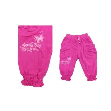Pure Color Pants with Printed for Girl (SPG008)
