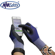 NMSAFETY ладони en388:2016 синий и черный PU перчатки