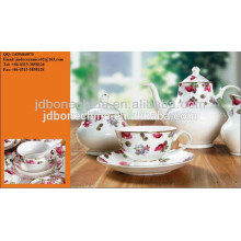 modern elegant artistic design porcelain ceramic bone china coffee tea set