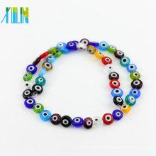 Günstige Bulk Großhandel Mischfarbe Y0005 Griechische Kleine Augapfel Flache Runde Form Evil Eye Perlen