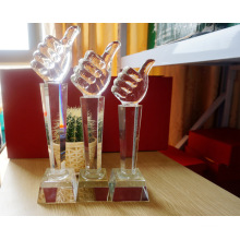 Thumb Crystal Trophy for Business Gift