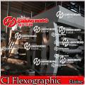 Rolo a rolo máquina de impressão flexográfica tecida