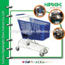 reinforced plastic basket shopping cart for sueprmarket