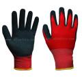 Нейлон трикотажные перчатки работы с Сэнди нитриловые погружения (N1590)