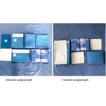 Pack d'angiographie chirurgicale non tissée médicale jetable