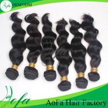 Großhandel Top-Qualität Menschenhaar Remy Virgin Haareinschlagfaden
