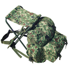 Japanese Canvas Camoflauge Hunting Camping Military Bags/Backpack with Foldable Chair (RS04-17J)