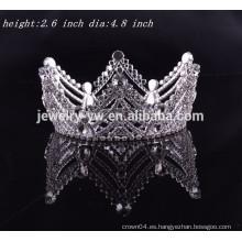Accesorios del pelo de la boda corona redonda del rhinestone redondo lleno