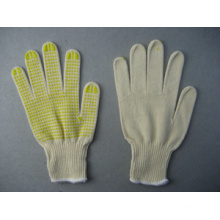 10g String Knit (90% Cotton) PVC Dotted Glove