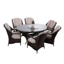 Leading for Garden Table And Chairs 7pc Modern garden rattan dinner set export to New Zealand Suppliers