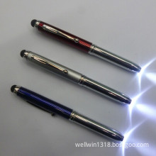 New Metal Capacitance Pen, Touch Screen Pen, LED Light Pen, Touch Ball Pen