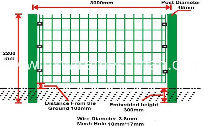 welded wire mesh fence darwing1